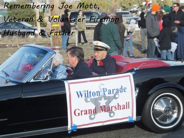 Joe Mott - Grand Marshall of Wilton Winter Fest 2014